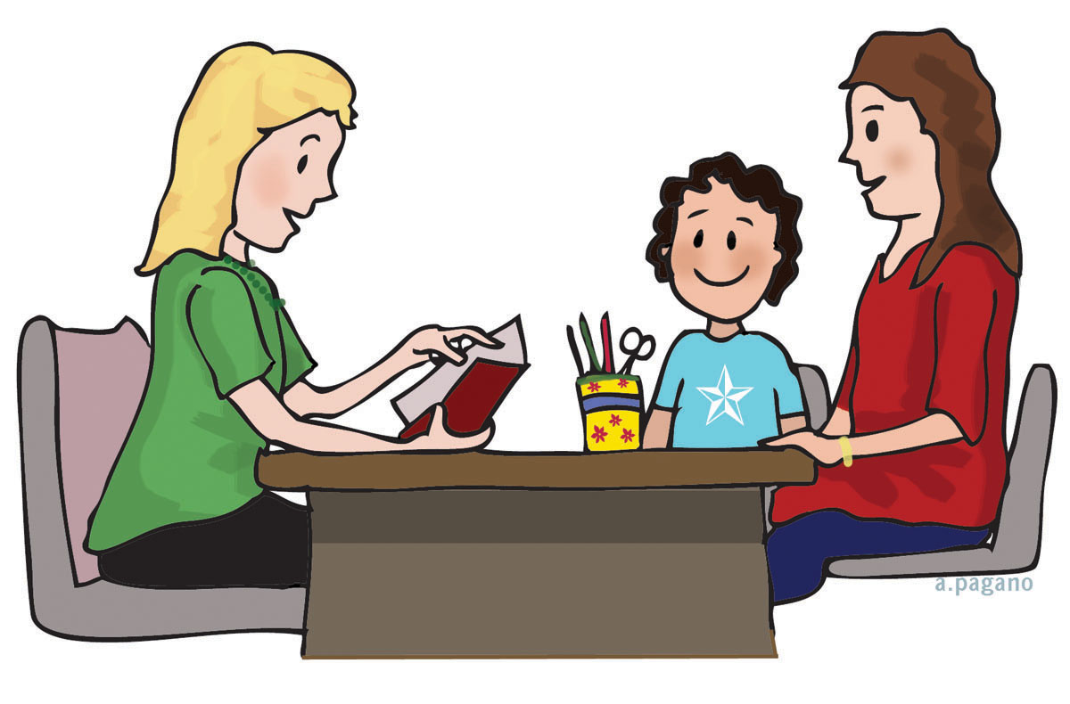 Parent Teacher Conference Clip Art N2 free image.