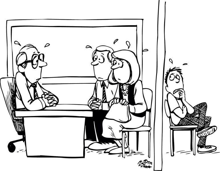 Parent Meeting Clipart Black And White.