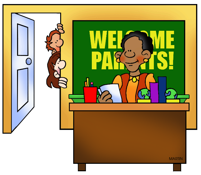 School Clip Art by Phillip Martin, Parent / Teacher Conferences.