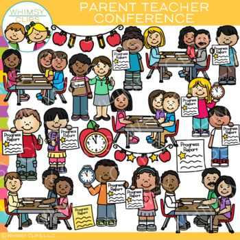 Parent Teacher Conference Clip Art.