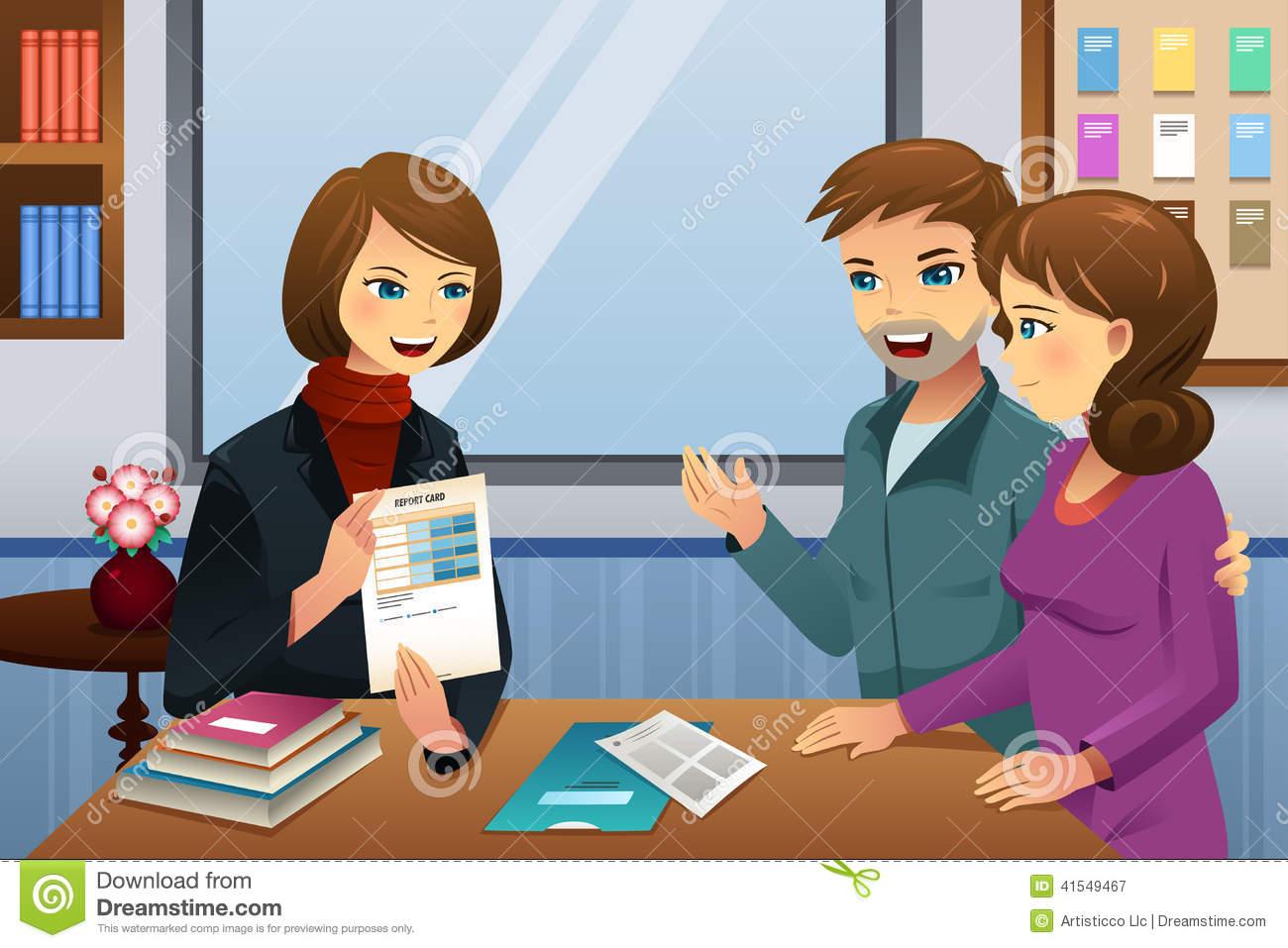 parent teacher student conference clipart #18