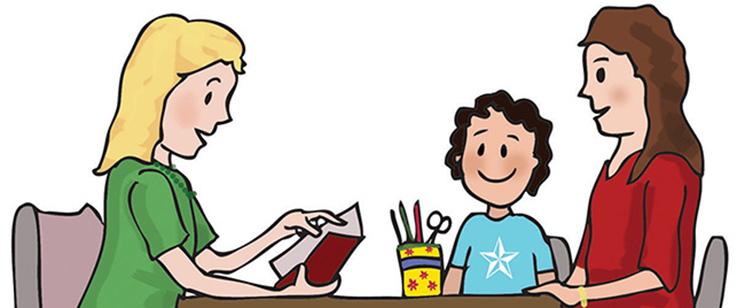 Parent Teacher Student Conference Clipart.
