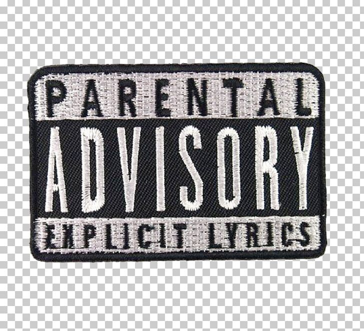 Embroidered Patch Parental Advisory Iron.