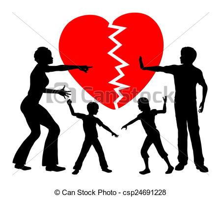 Clip Art of Parental Alienation.