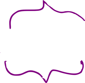 Parentheses Purple Clipart.