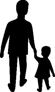 Parent Dad Hold Child Hand Clip Art at Clker.com.