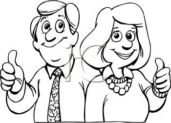 Parents clipart black and white 3 » Clipart Station.