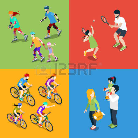 2,546 Family Bike Stock Illustrations, Cliparts And Royalty Free.