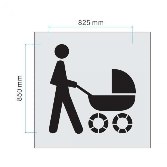 Parents with prams clipart #1