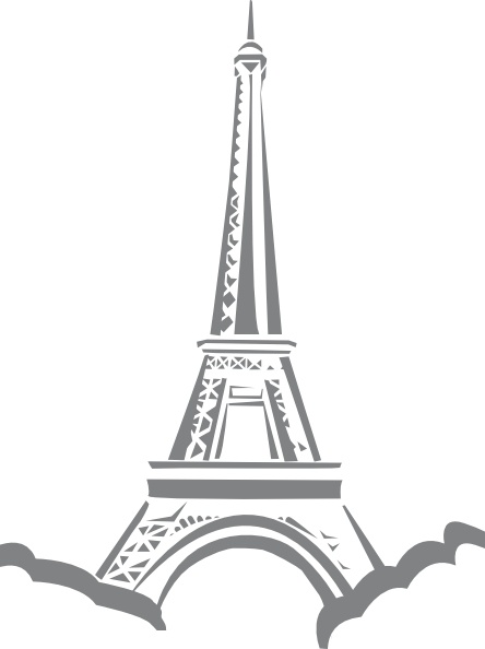 Eiffel Tower Paris clip art Free vector in Open office.