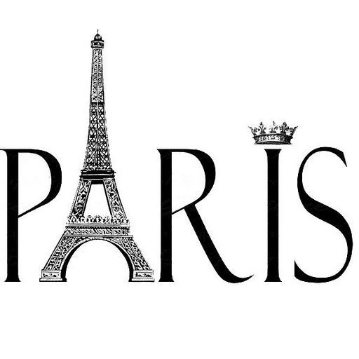 black and white paris clipart.