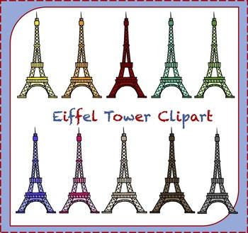 Eiffel Tower Clipart / Paris Clipart / France Clipart / Travel Clipart.