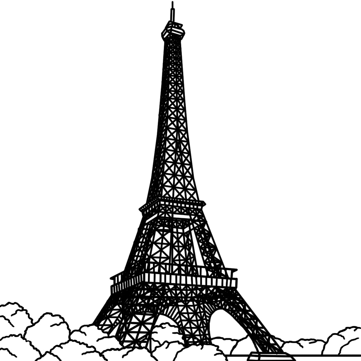 Eiffel tower paris clip art dromgfd top.