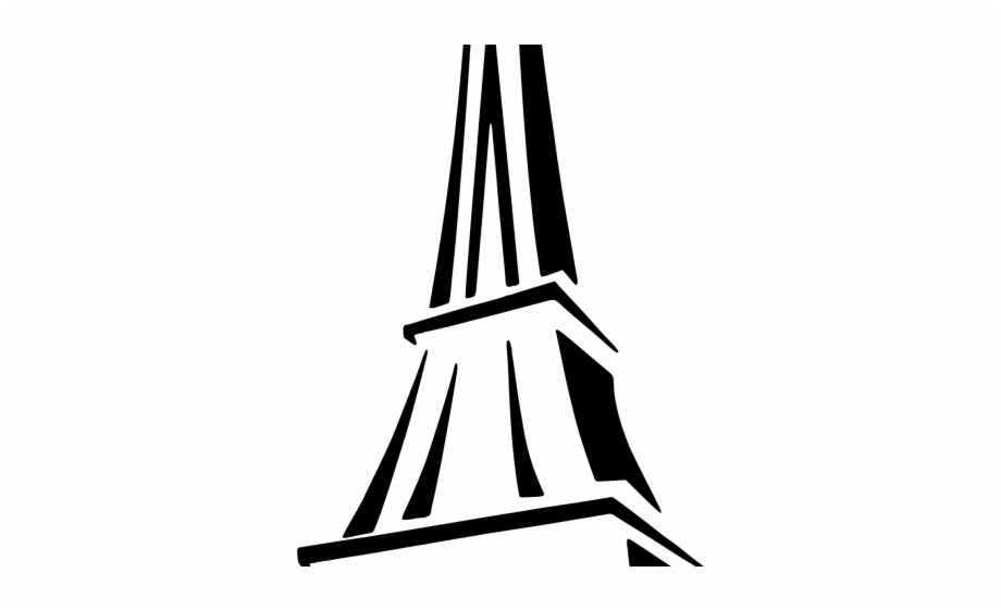 Drawn Eiffel Tower Silhouette.