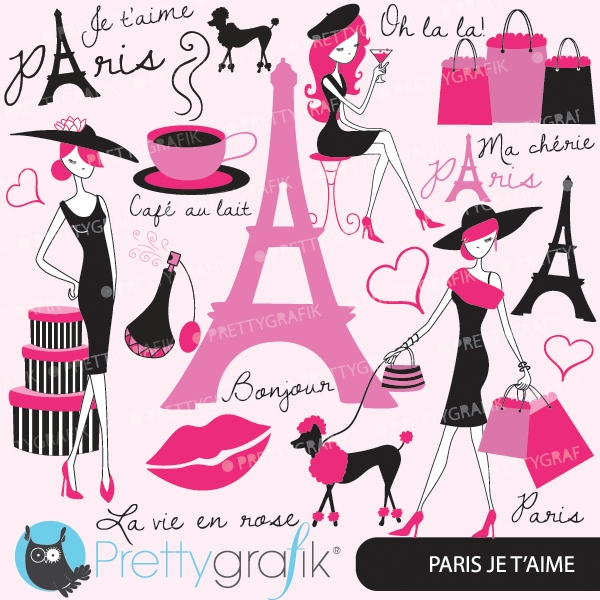 Download paris fashion clipart for scrapbooking (commercial use.