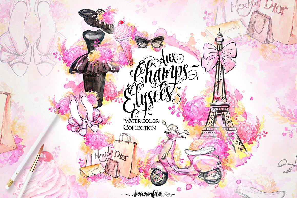 Paris Fashion Clipart ~ Illustrations on Creative Market.