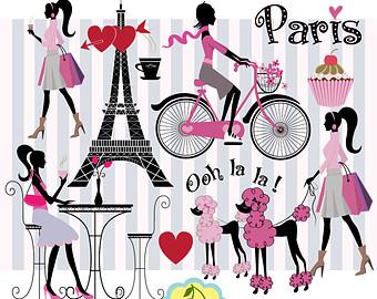 Paris Fashion Clipart.
