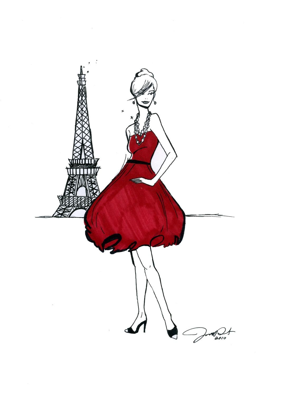 Similiar Girl Walking Clip Art In Paris Keywords.