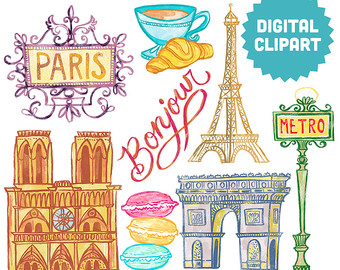 Paris french clipart.