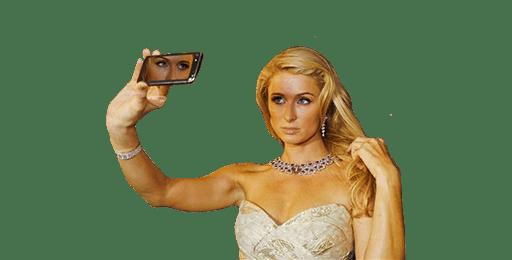 Paris Hilton Selfie transparent PNG.