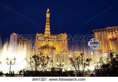 Stock Photography of Paris hotel and casino Las Vegas, Nevada.