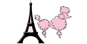 French Poodle Clipart.
