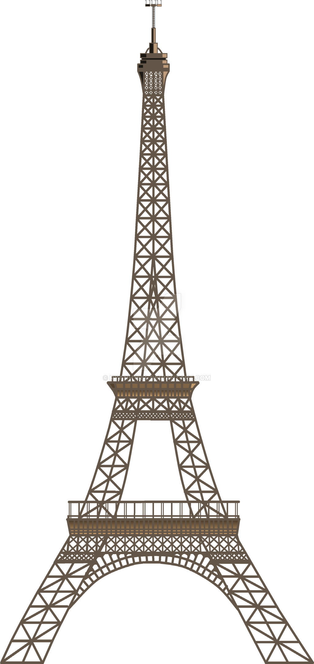 Two Dimensional Eiffel Tower.