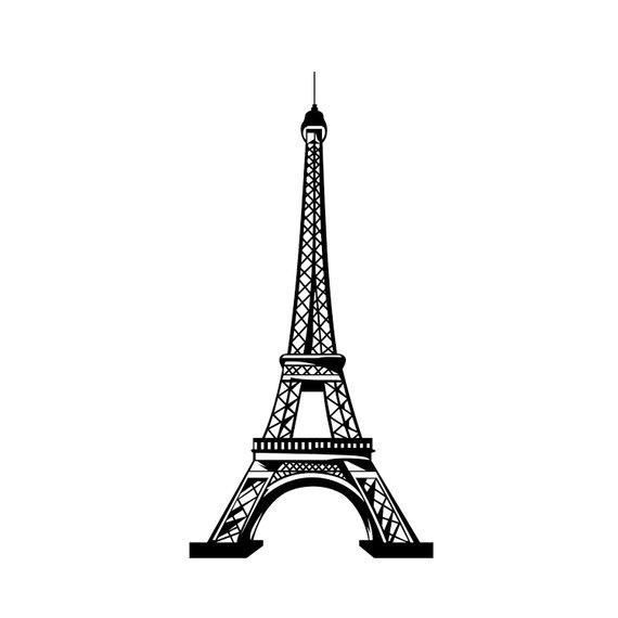 Eiffel Tower Paris Graphics SVG Dxf EPS Png Cdr Ai Pdf.
