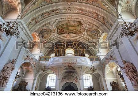 Stock Images of Organ loft of the baroque pilgrimage church of.