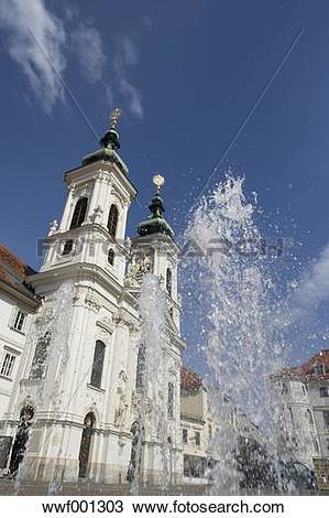 Stock Photo of Austria, Styria, Graz, Mariahilf, View of.