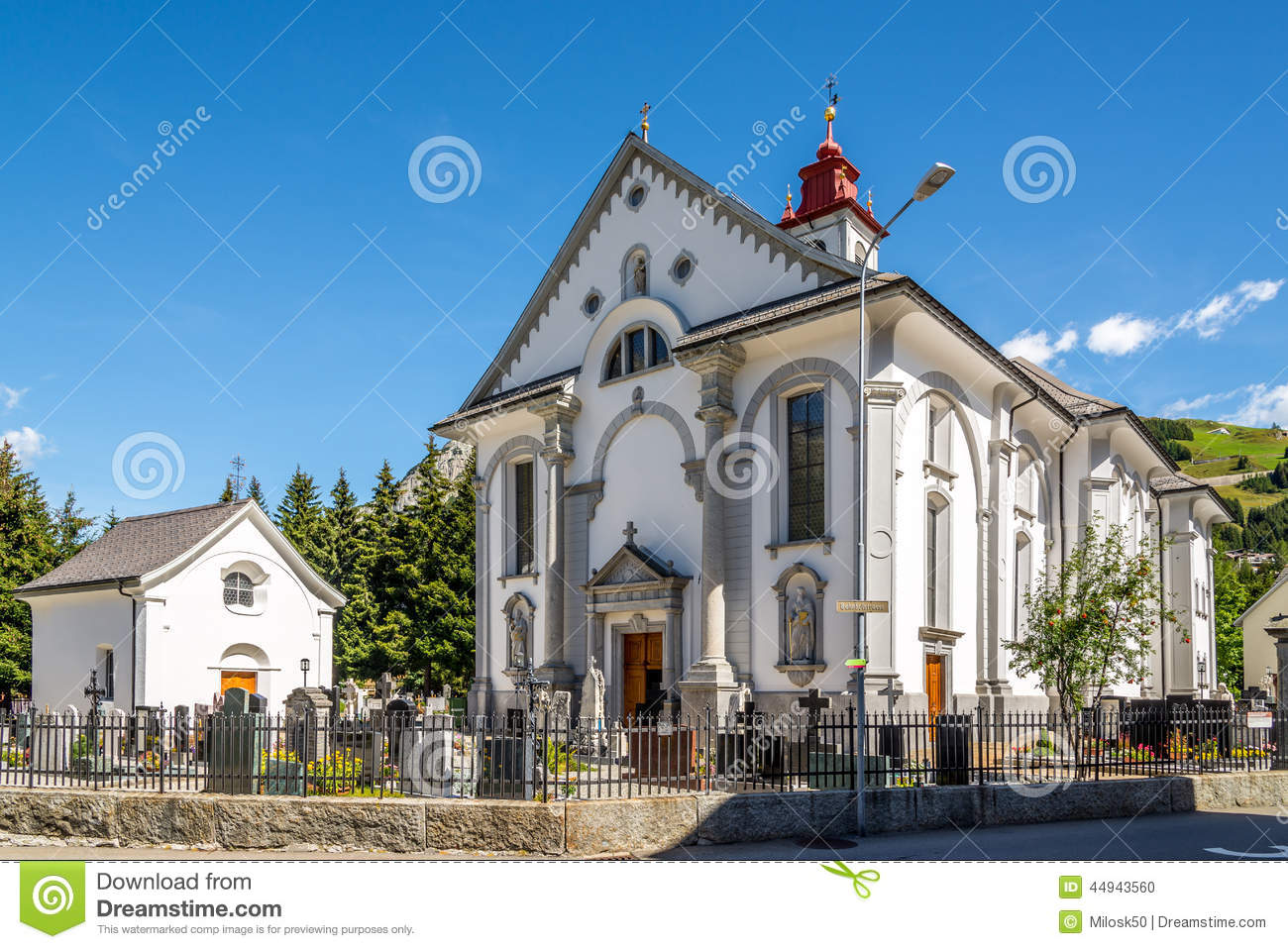 Parish Church St. Peter And Paul In Andermatt Editorial Image.