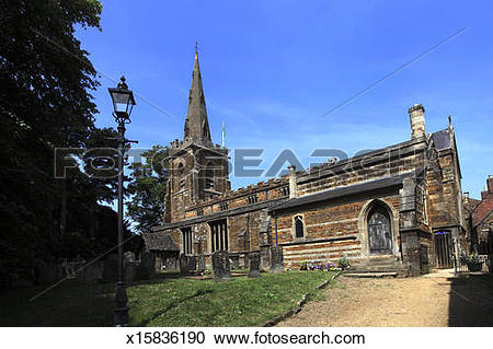 Stock Photography of St Peter St Paul Parish church Uppingham.