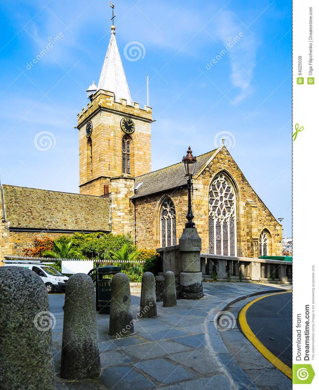 Parish Church Of St Peter Port Stock Photo.