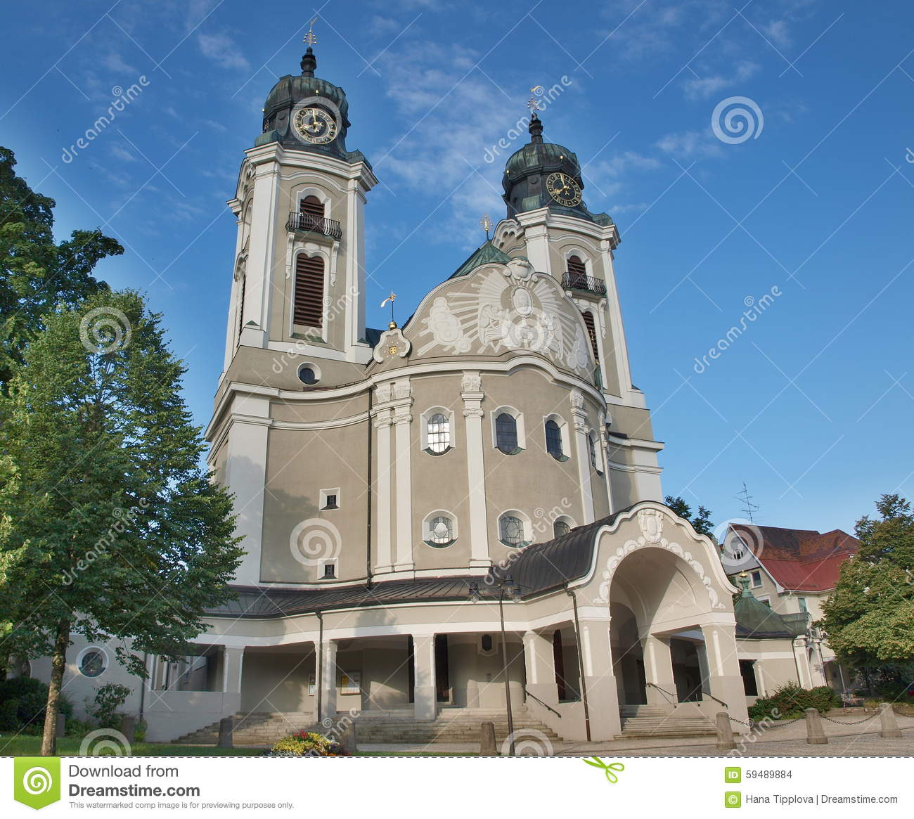 Parish Church Of St. Peter And Paul Stock Photo.