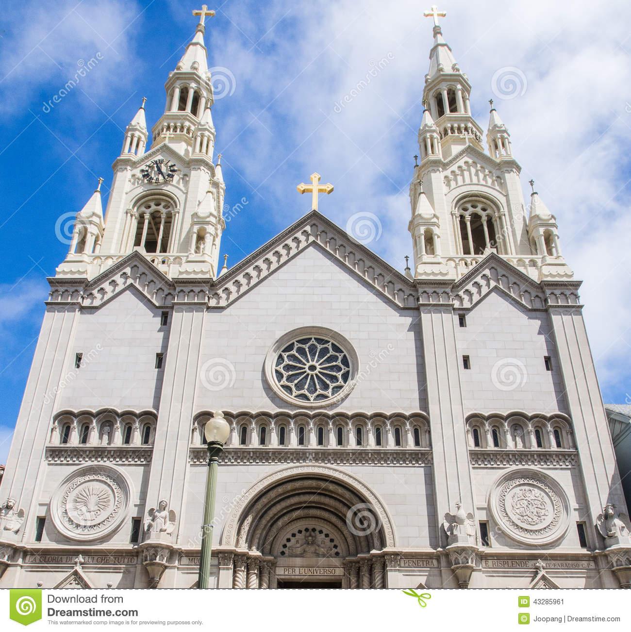 Saint Peter And Paul Church In San Francisco Stock Photo.