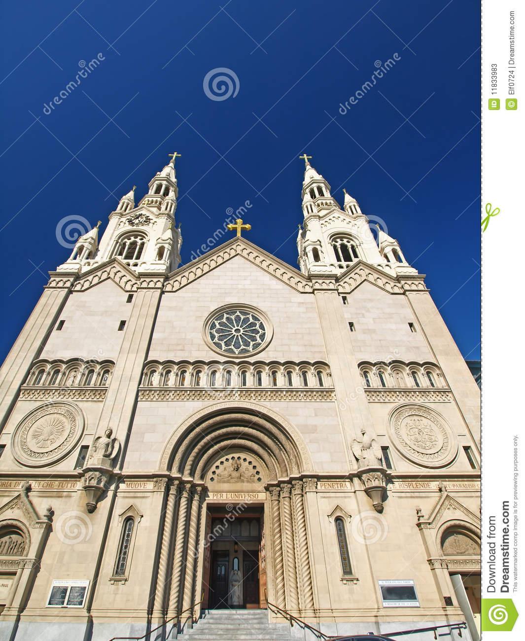 St. Peter & Paul Church In San Francisco Stock Photos.