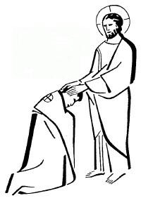 Priest blessing clipart.