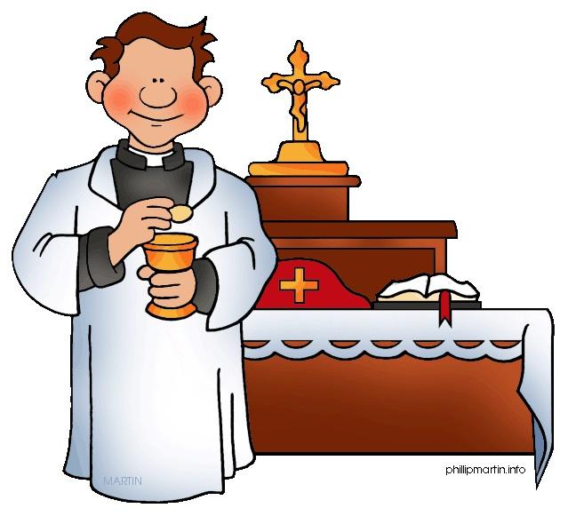 Catholic priest clipart free.