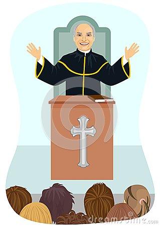 Parish Priest Stock Illustrations.