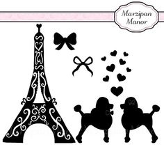 PARIS Clip Art: PINK PARIS Theme Clipart Digital Clip Art Vintage.
