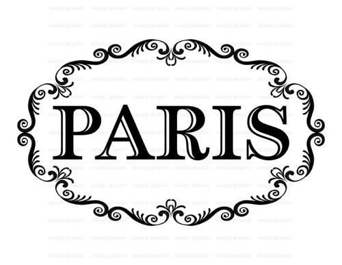 Paris Border Clipart.