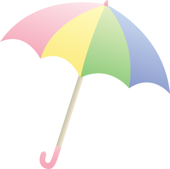 Pastel Colored Umbrella.