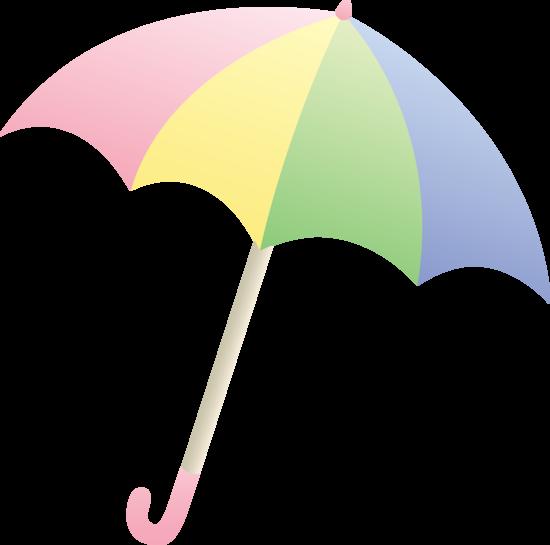 Pastel Colored Umbrella.