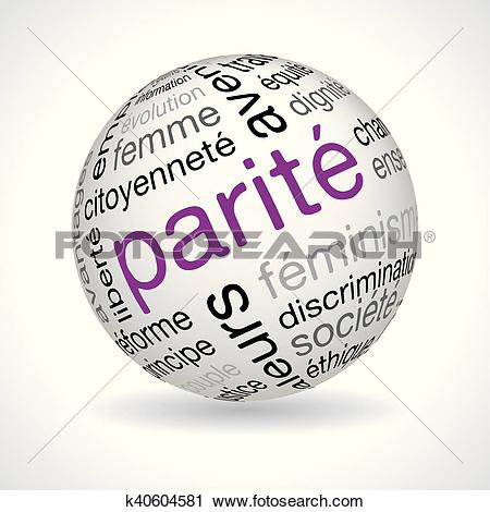 Clipart of French parity theme sphere k40604581.