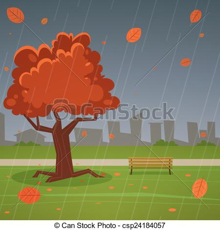 Clipart Vector of Autumn Park.