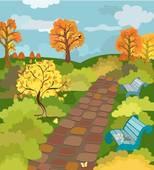 Park Autumn Clip Art.