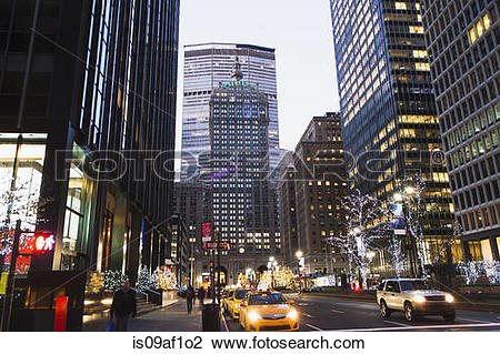 Stock Photo of Met Life building and Park Avenue, New York, USA.