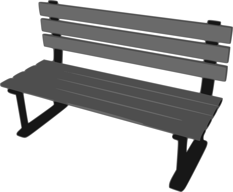 Free Clipart: Park Bench.
