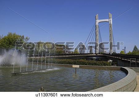 Stock Photography of Kiba Park Bridge u11397601.