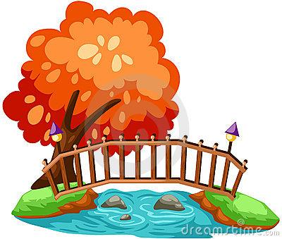 Wooden Bridge Stock Illustrations.